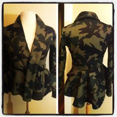 Peplum Army Jacket - Easy How to's at www.lipglossandthead.com  #DIY #Sewing