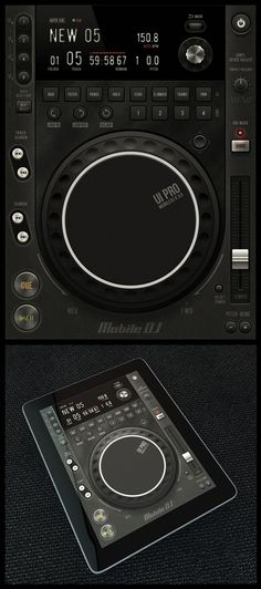 Tablet/Phone User Interface Professional Set V. 5    This interface by Graphic River author Diego Monzon features a large central knob and a slick LCD style interface.