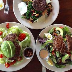 """Epic #grassfed burger salad at @burgerup #coolsprings #nashville #paleo #primal #lowcarb #glutenfree"" Photo taken by @grassfedgirl on Instagram, pinned via the InstaPin iOS App! http://www.instapinapp.com (05/04/2015)"