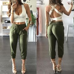 """2,404 Likes, 97 Comments - The Boutique (@the_boutique_) on Instagram: """"New shop this look online or in store. Laura Crop + Olive Tree pants"""""""