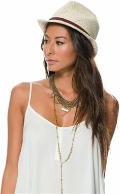 BILLABONG MIDDAY SLOWIN STRAW FEDORA > Womens > Featured > Bleach Babe | Swell.com