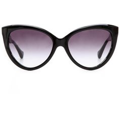 Dita Eclipse Sunglasses - Black Swirl/Grey To Clear (375 AUD) found on Polyvore