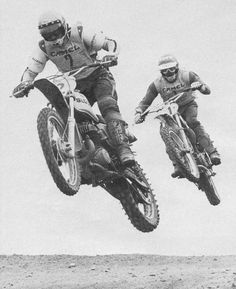 Roger DeCoster leading - old school MX