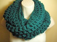 Teal Cowl Infinity Circle Scarf Neckwarmer by madebymandy35