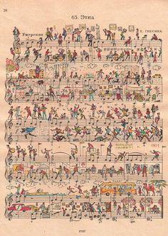 Whimsical Art   people too make fantastic whimsical art on sheet music