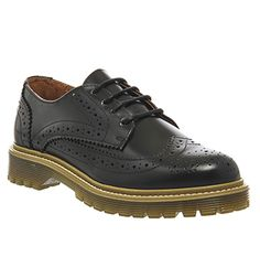 7f19f6b0af319 Office Rush Hour Lace Up Brogues Black Box Leather - Flats Heure De Pointe,  Boîte