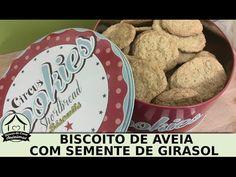 Receita de biscoito de aveia com semente de girasol