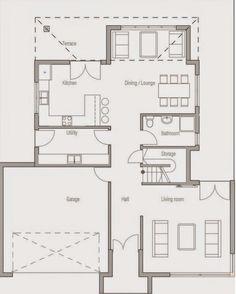 Planos de casas de dos pisos moderna