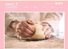 Premade Website template DIY Bakery Web Design by bellaandbloom
