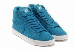 37d73b8c59089 original Baskets Nike Blazer High Vintage Suede Femme bleu soldes online