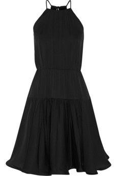Milly Madison stretch-silk crepe dress | NET-A-PORTER