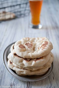 Homemade Garlic Beer Pita Bread