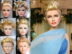 Okay, this is amazing to me. This guy takes dolls, removes the original paint, sometimes curls or cuts the hair and repaints the faces to look SO REALISTIC. Grace Kelly custom doll repaint by *noeling on deviantART