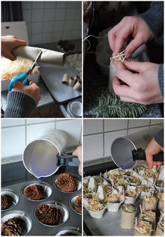 Today we made firelighters. - Today we made firelighters. whether in winter to start a warm fire or in s - Pinecone Fire Starters, Small Space Interior Design, Hobbies For Men, How To Make Light, Diy Candles, Diy Dress, Entryway Decor, Diy And Crafts, Diy Projects