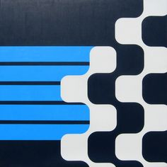 Simple geometric art: Sapion. Acrylic on canvas. 48 inches (122 cm) square. 2011. Grant Wiggins