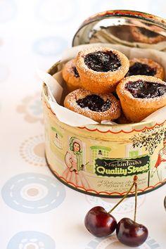 cherry pie shortbread bites