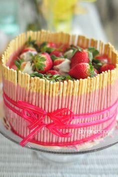 ice cream pocky cake