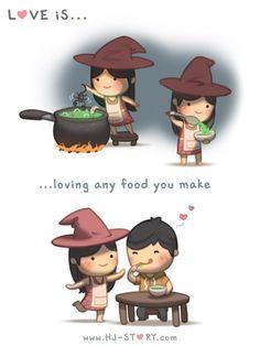 HJ-Story ~ Amar é .... fazer uma comida que você gosta