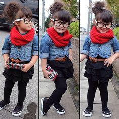Cute kid, cute outfit