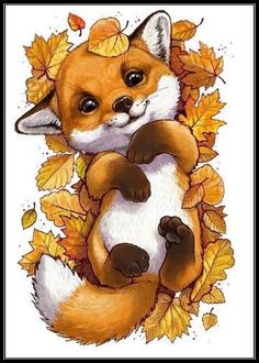 Tierillustration Tiere Tiere Best Picture For funny photo clean For Your Ta Cute Animal Drawings, Cute Drawings, Cute Fox Drawing, Drawing Animals, Pencil Drawings, Fox Art, Raccoon Art, Animal Wallpaper, Halloween Art