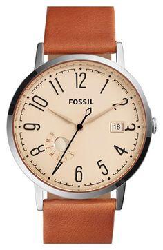 Fósiles de cuero 'Vintage Muse' Reloj con correa, de 40 mm disponible en #Nordstrom