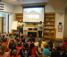 James Ransome and Lesa Cline-Ransome give a school visit presentation
