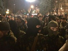Rights Sector's Storming Verhovna Rada - March 27, 2014