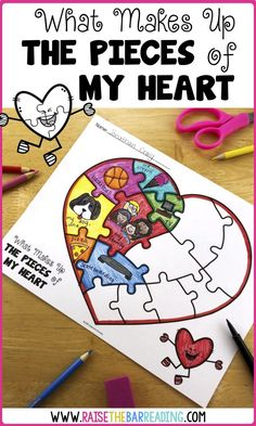 Low Prep Valentine's Day Activities for Elementary Students - Raise the Bar Read. - Low Prep Valentine's Day Activities for Elementary Students – Raise the Bar Reading - Valentines Day Activities, Valentine Day Crafts, School Holiday Activities, First Day Of School Activities, Kids Valentines, Holiday Crafts, Projects For Kids, Crafts For Kids, Art Projects