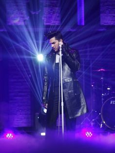 Adam Lambert Hits The Stage At 'Late Night With Seth Meyers'