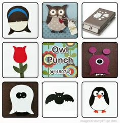 Owl Punch ideas - Stampin Up