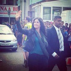 Katrina Kaif and Saif Ali Khan spotted in London while shooting for Phantom.