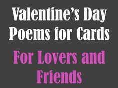Poems for Valentine's Day