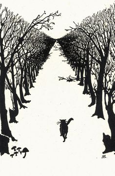 """I am the Cat who walks by himself and all places are alike to me."" Rudyard Kipling.  From ""Just So Stories.""  See also http://www.victorianweb.org/art/illustration/kipling/23.html."