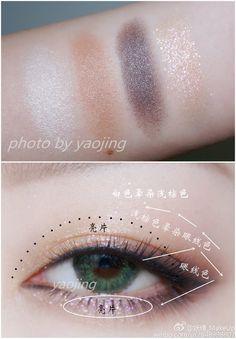 "Asian Eye Makeup History of eye makeup ""Eye care"", put simply, ""eye make-up"" Korean Eye Makeup, Eye Makeup Art, Blue Makeup, Eye Makeup Tips, Smokey Eye Makeup, Makeup For Brown Eyes, Beauty Makeup, Makeup Style, Makeup Ideas"