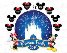 Disney Family Printable Iron On Transfer or Use by TheWallabyWay