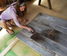 DIY: barn wood headboard {part two: sealing}
