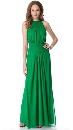 The more I think about this, the less likely a white dress is -- in green, it could be reworn plenty: ONE by Daniel Vosovic Adaptation Gown