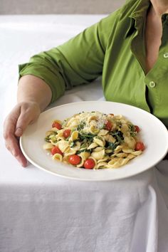Just wanted to share this delicious recipe from Lidia Bastianich with you - Buon Gusto! Orecchiette with Favas and Cherry Tomatoes