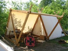 sunshade supported by A frame tent setup. Eindhoven 2008.