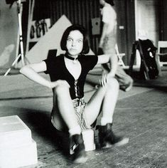 Natalie Portman on the set of Leon the Professional