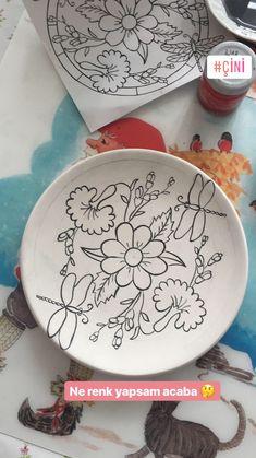 #çini #çinitabak #çiçek #modernçini #desen #flowers