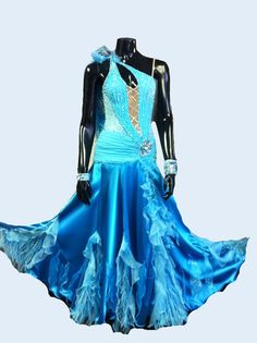 Ballroom  Dance  Dress of  Tiffany  Blue  color on Etsy, $1,275.21 CAD