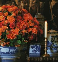 Designer Carolyne Roehm always sets the most exquisite table, and since Thanksgiving is tomorrow, I decided to share some of my favorite examples of her endless fall inspiration… It just doesn't get any more beautiful! For additional ideas from Carolyne Roehm on Fall decorating and tablescapes, I highly recommend her Fall Notebook. I have all …