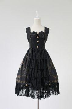 Neverland Lolita***La Pucelle and Pigeon***Open Front Lolita Jumper Dress