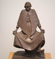 Tanzende Alte, 1920 by Ernst Barlach (German 1870-1938)