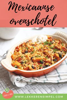 Mexican casserole with sweet potato - Tasty and Simple - Mexican casserole with sweet potato. A tasty vegetarian oven dish with black beans, corn and tomato - Mexican Food Recipes, Vegetarian Recipes, Dinner Recipes, Ethnic Recipes, Vegetarian Casserole, Mexican Casserole, Low Carb Recipes, Healthy Recipes, Oven Dishes
