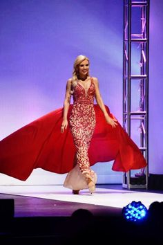 Sherri Hill couture pageant gown. Red pageant gown.
