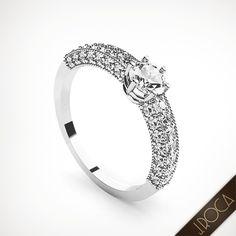 """La """"Clave""""... del momento tan ansiado y esperado. No importa si te quedas sin palabras. Porque será único, deslumbrante y para la eternidad http://www.jroca.com/es/joyeria-joyas-anillos-solitarios-59 #joyasboda #anillosboda #anillosolitarios"""