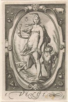 Venus, Jacob Matham, 1597