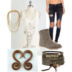 Explore your inner rebel with Fiona by bearpawstyle on Polyvore featuring Lovers + Friends, Rosantica, BKE, Bearpaw and vintage